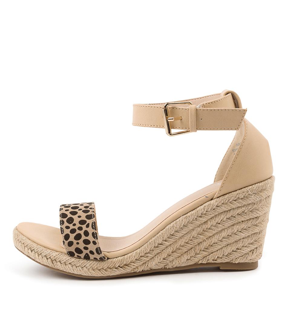 Buy Ko Fashion Aimey W Kf Nude Cheetah Heeled Sandals online with free shipping