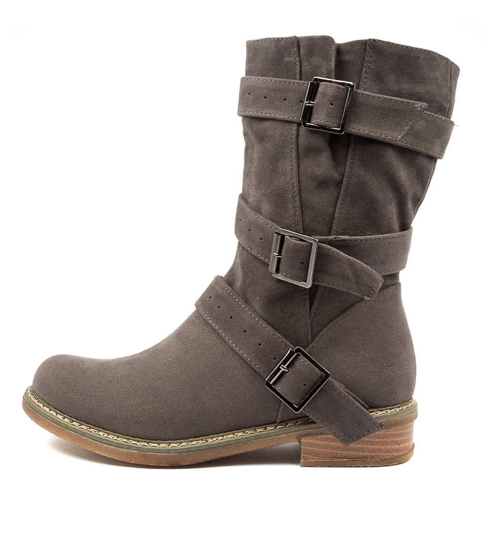 Buy Ko Fashion Amazon Kf Taupe Calf Boots online with free shipping