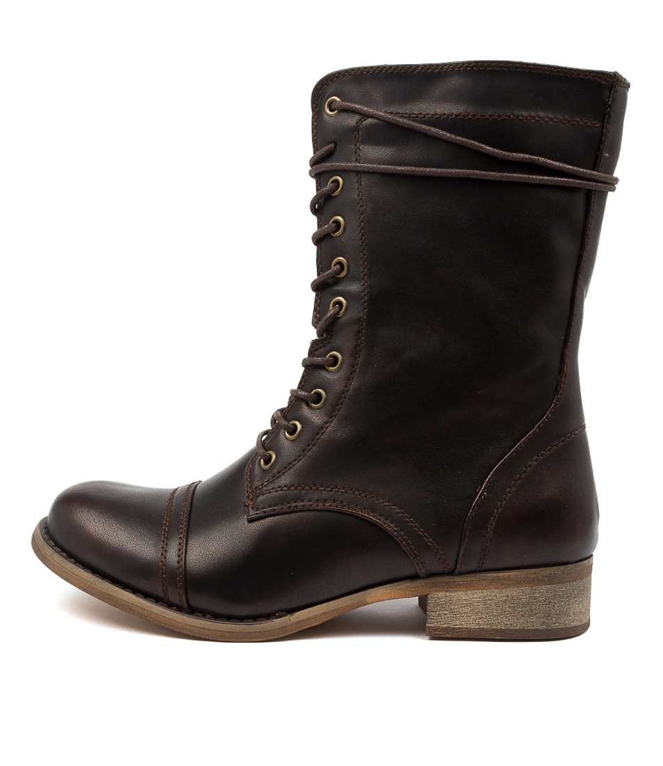 Buy Ko Fashion Army Kf Bronze Ankle Boots online with free shipping