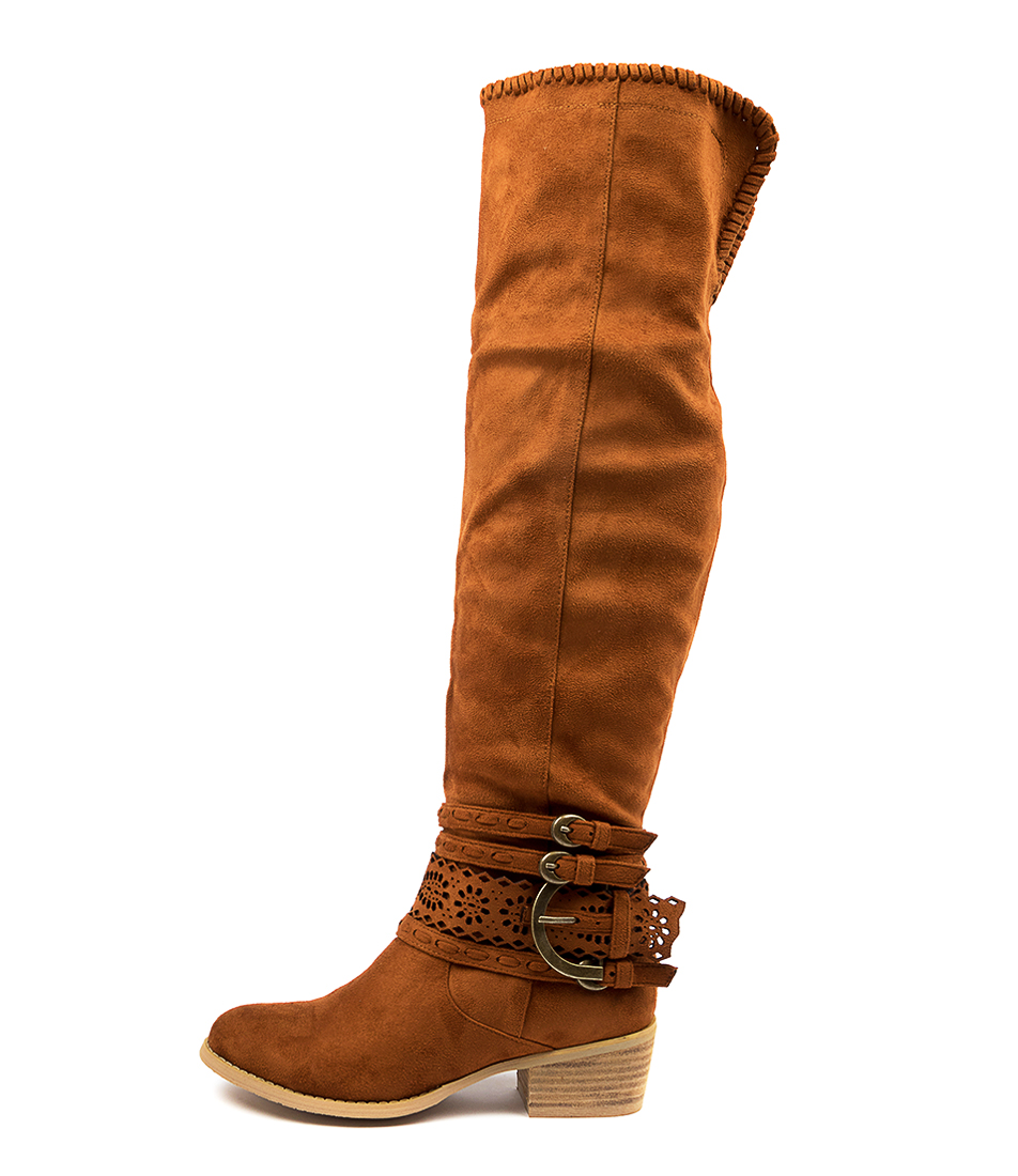 Buy Ko Fashion Eve Kf Rusty Brown Long Boots online with free shipping