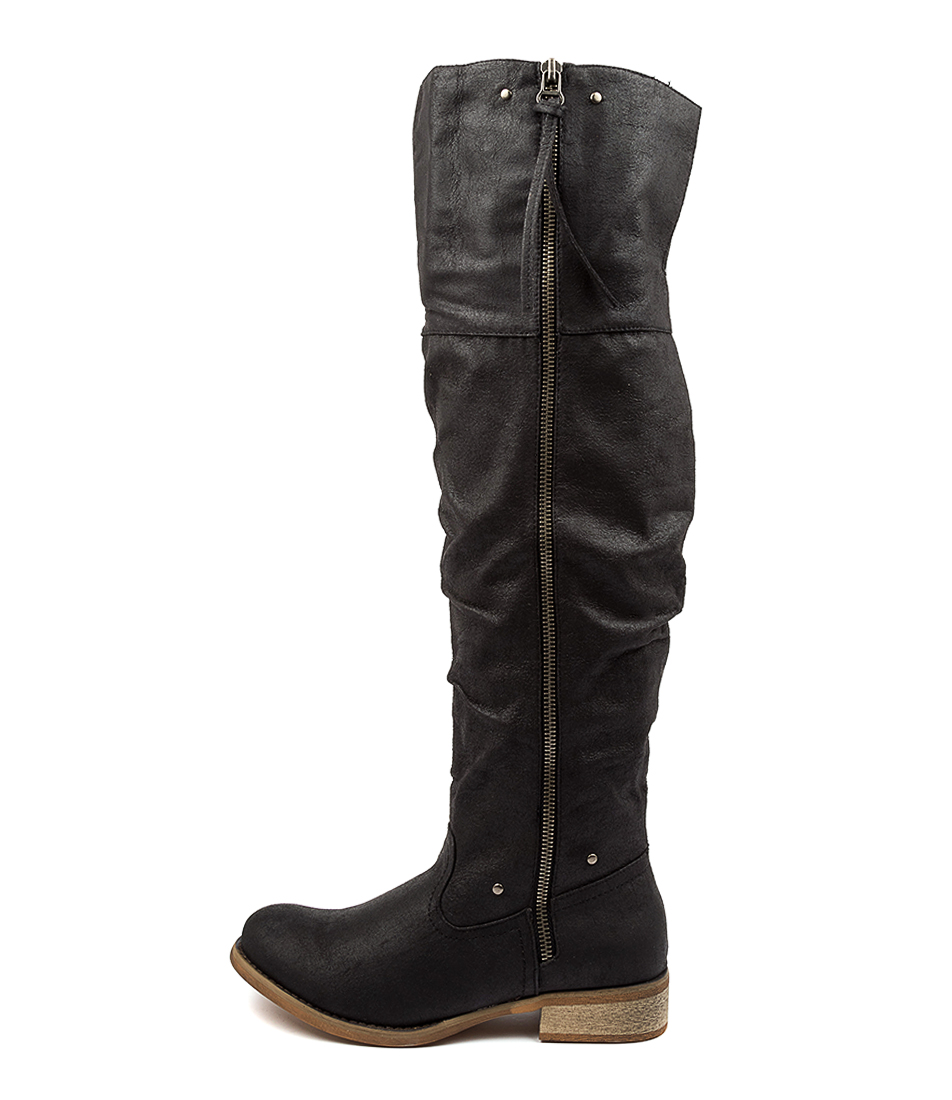 Buy Ko Fashion Kendal Kf Black Long Boots online with free shipping