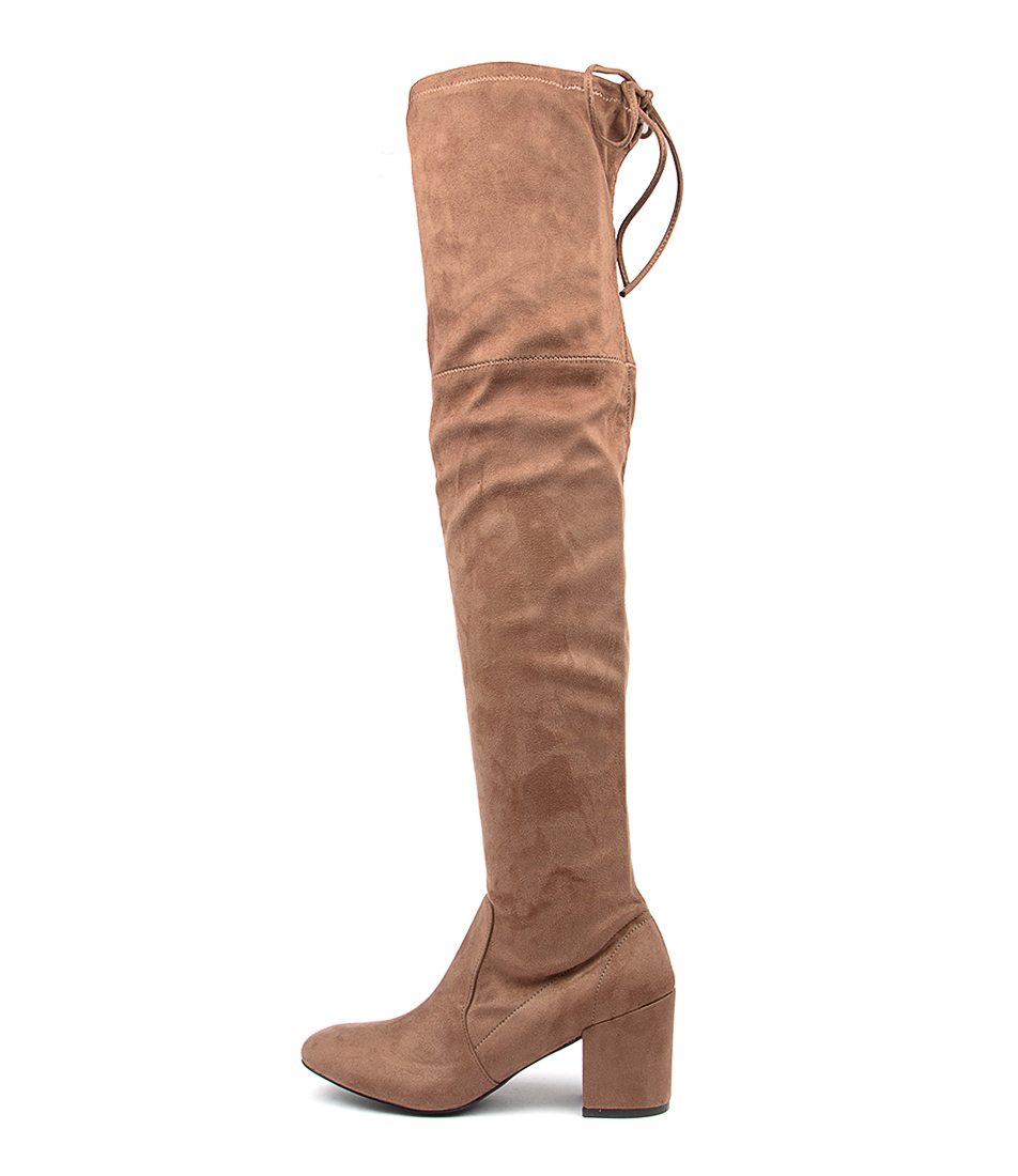 Buy Ko Fashion Laura Kf Taupe Long Boots online with free shipping