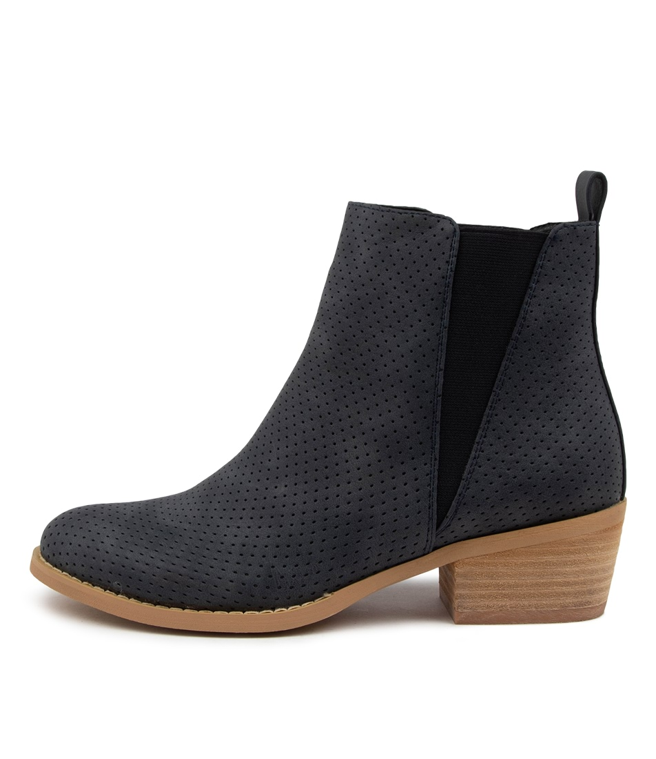 Buy Ko Fashion Ellery Boot Kf Navy Ankle Boots online with free shipping