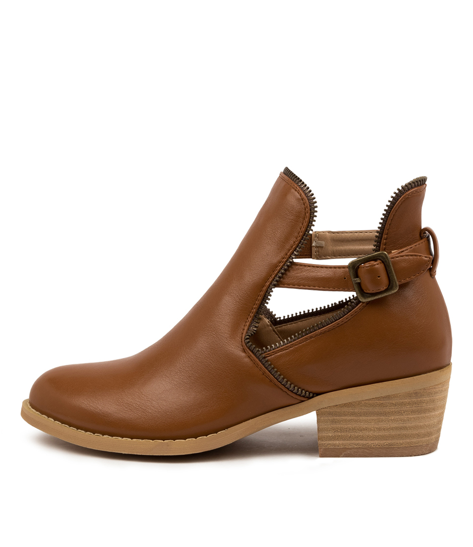 Buy Ko Fashion Ego Boot Kf Tan Ankle Boots online with free shipping
