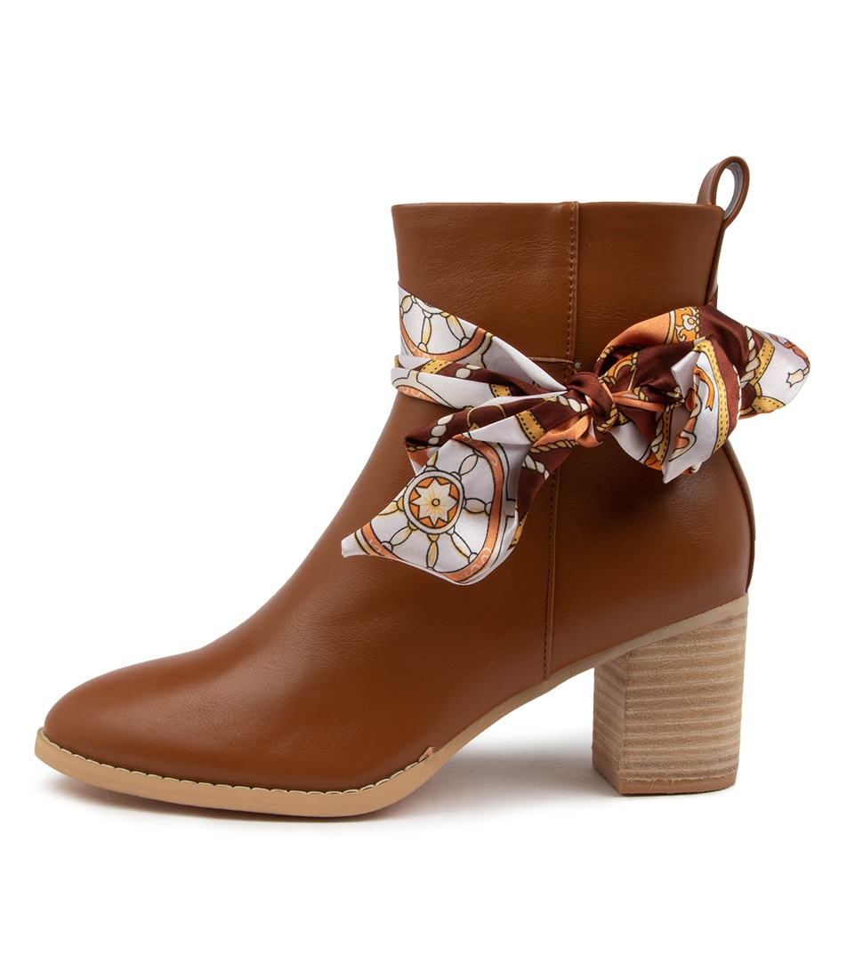 Buy Ko Fashion Silky Boot Kf Tan Ankle Boots online with free shipping