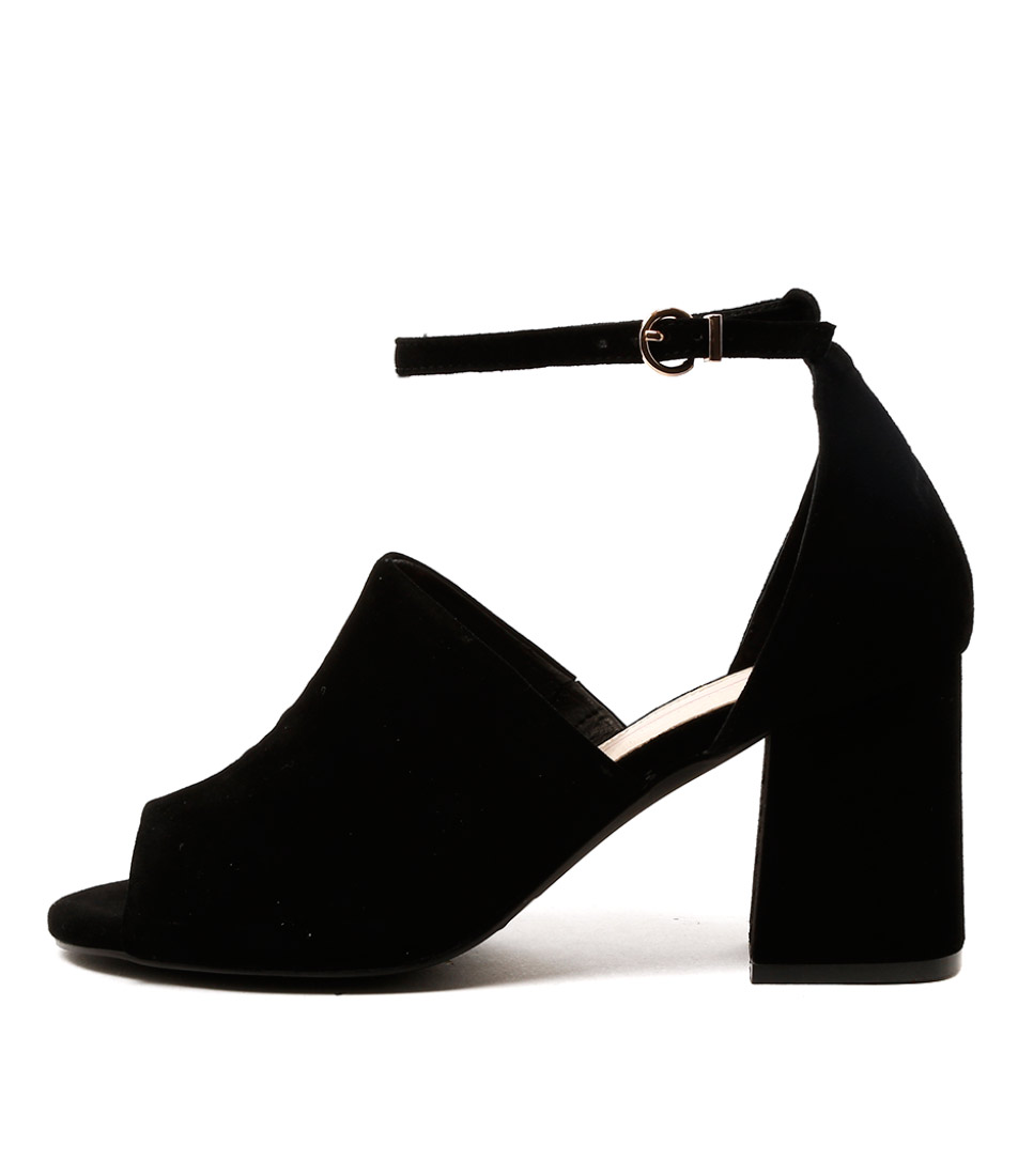 Mollini Killa Black Covered Heel Sandals