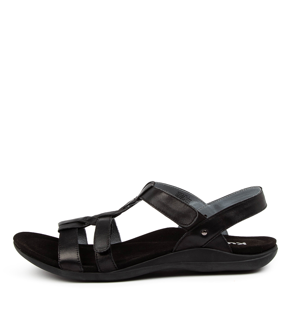 Buy Kumfs Monte Km Black Sandals Flat Sandals online with free shipping