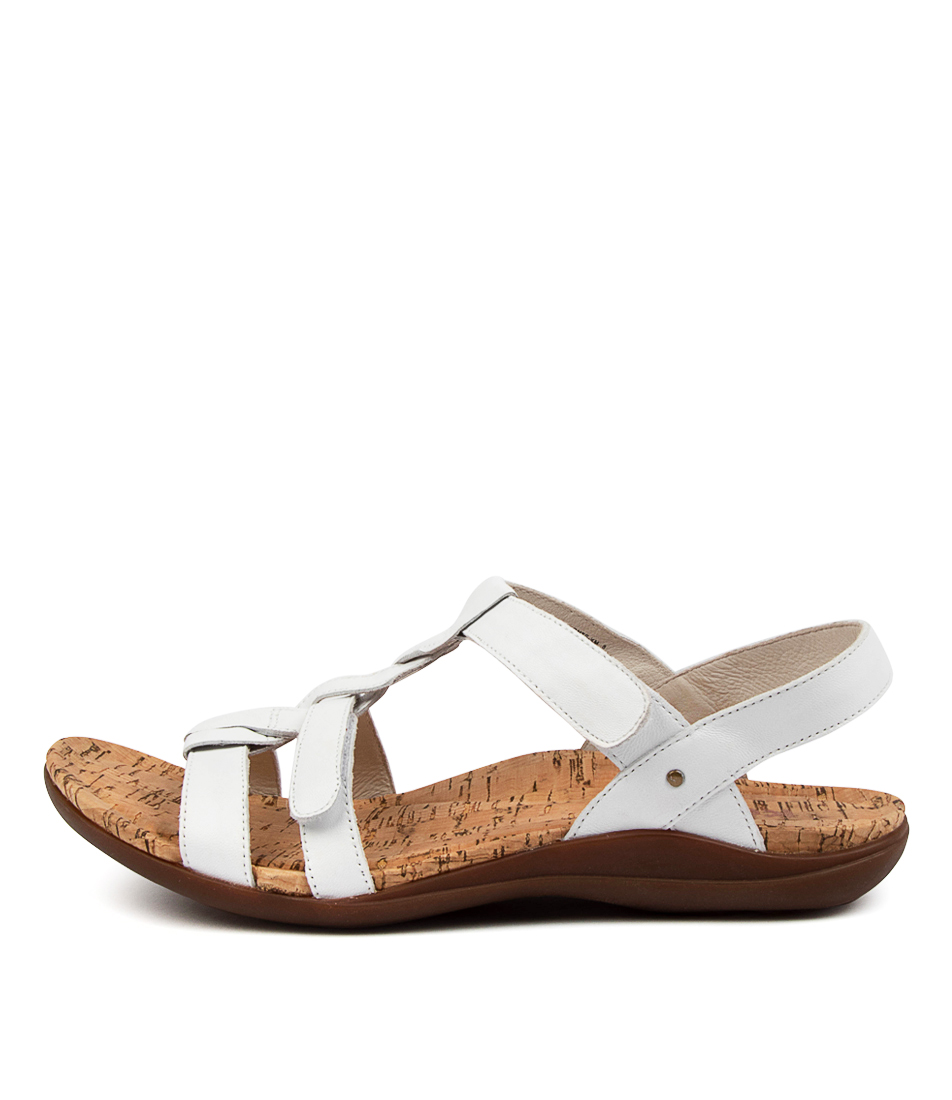 Buy Kumfs Monte Km White Flat Sandals online with free shipping