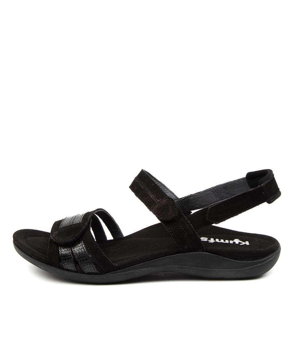 Buy Kumfs Macha Km Black Flat Sandals online with free shipping