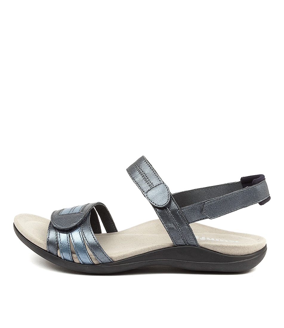 Buy Kumfs Macha Km Navy Sandals Flat Sandals online with free shipping