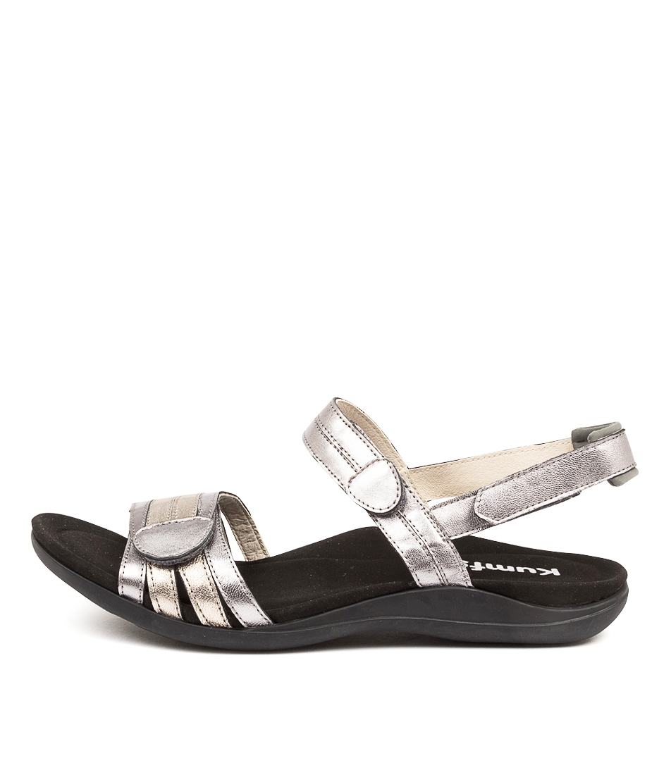 Buy Kumfs Macha Km Pewter Sandals Flat Sandals online with free shipping