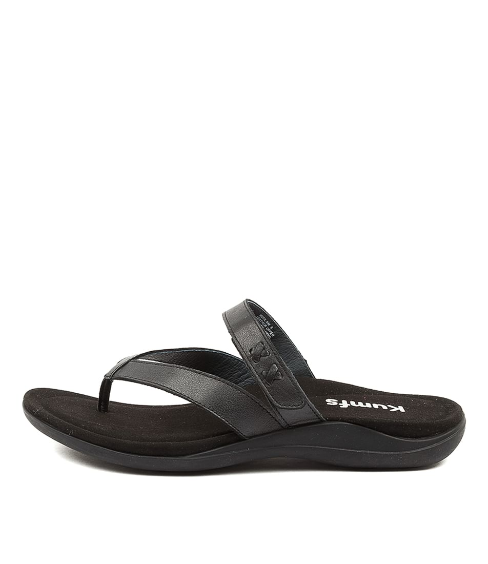 Buy Kumfs Meril Km Black Flat Sandals online with free shipping