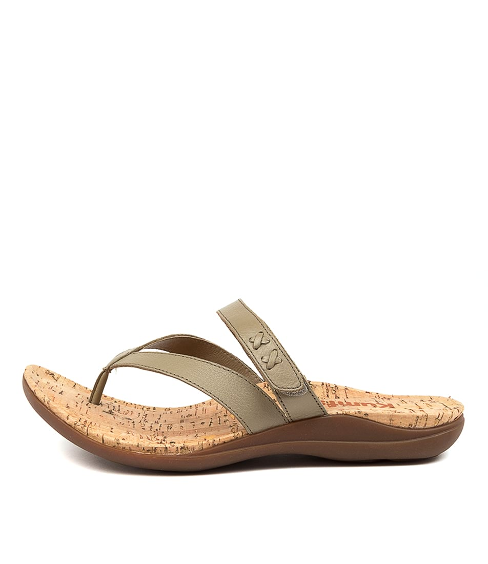Buy Kumfs Meril Km Khaki Sandals Flat Sandals online with free shipping