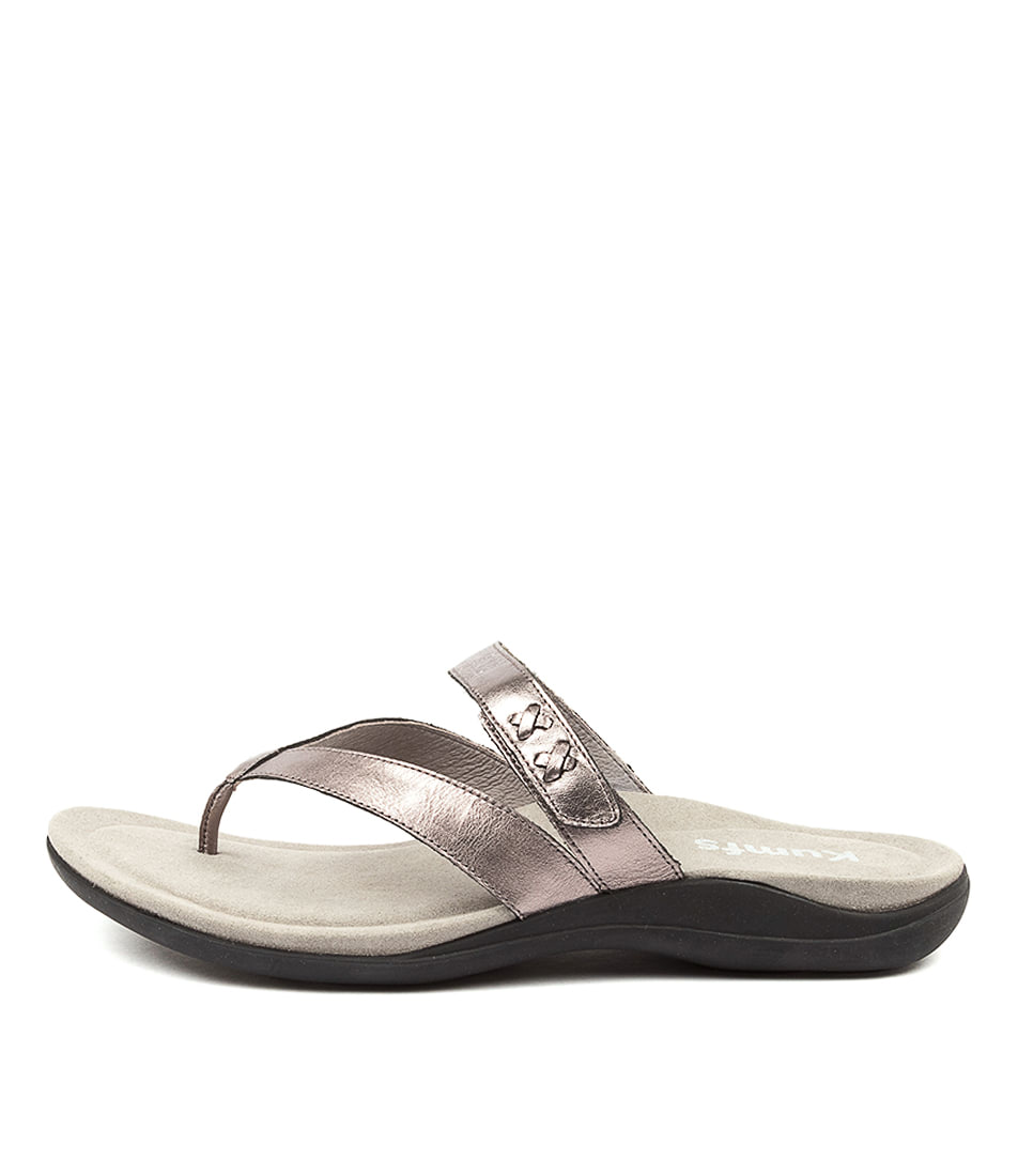Buy Kumfs Meril Km Pewter Sandals Flat Sandals online with free shipping