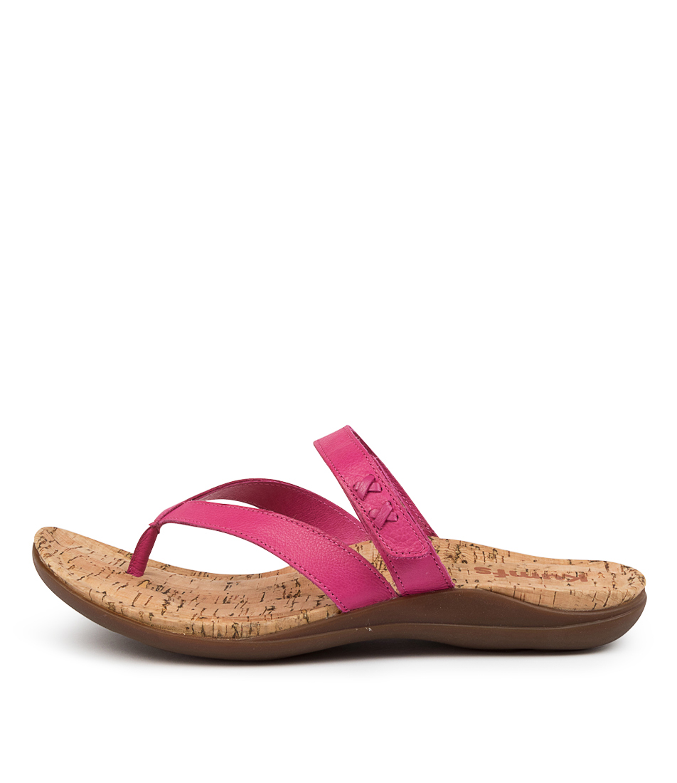 Buy Kumfs Meril Km Fuchsia Flat Sandals online with free shipping