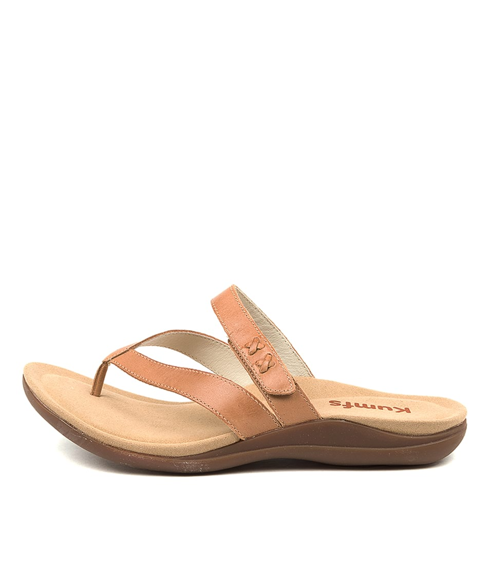 Buy Kumfs Meril Km Tan Flat Sandals online with free shipping
