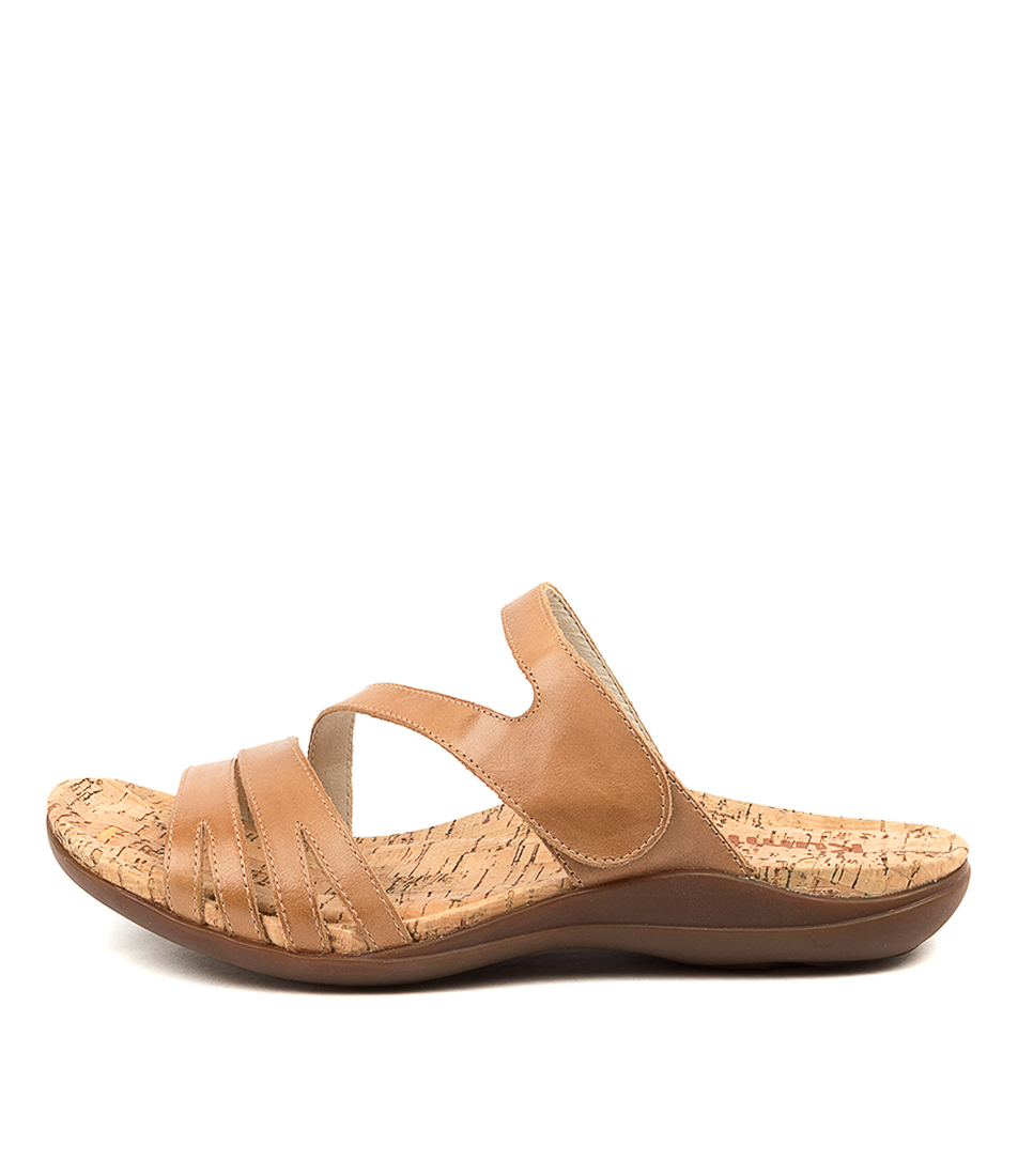 Buy Kumfs Much Km Tan Flat Sandals online with free shipping