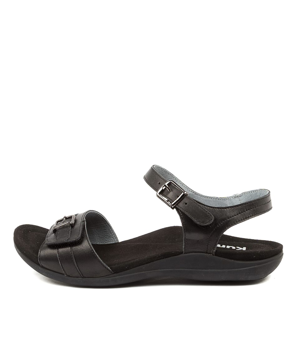 Buy Kumfs Manor Km Black Sandals Flat Sandals online with free shipping