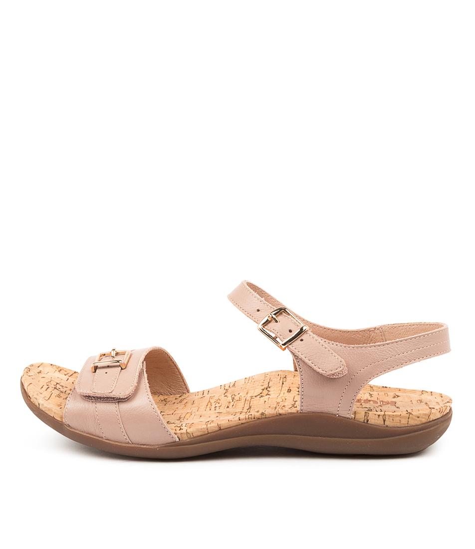 Buy Kumfs Manor Km Blush Flat Sandals online with free shipping