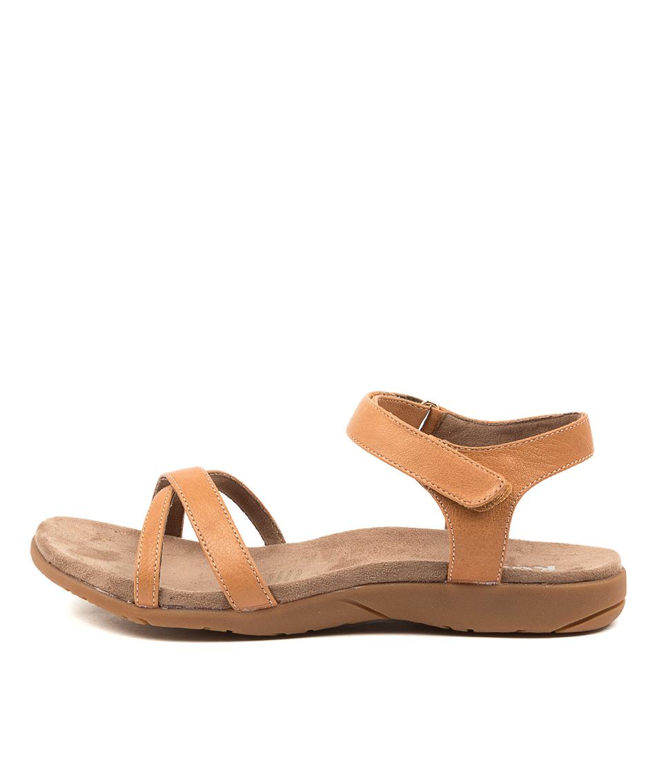 Buy Kumfs Karabeal Km Tan Flat Sandals online with free shipping