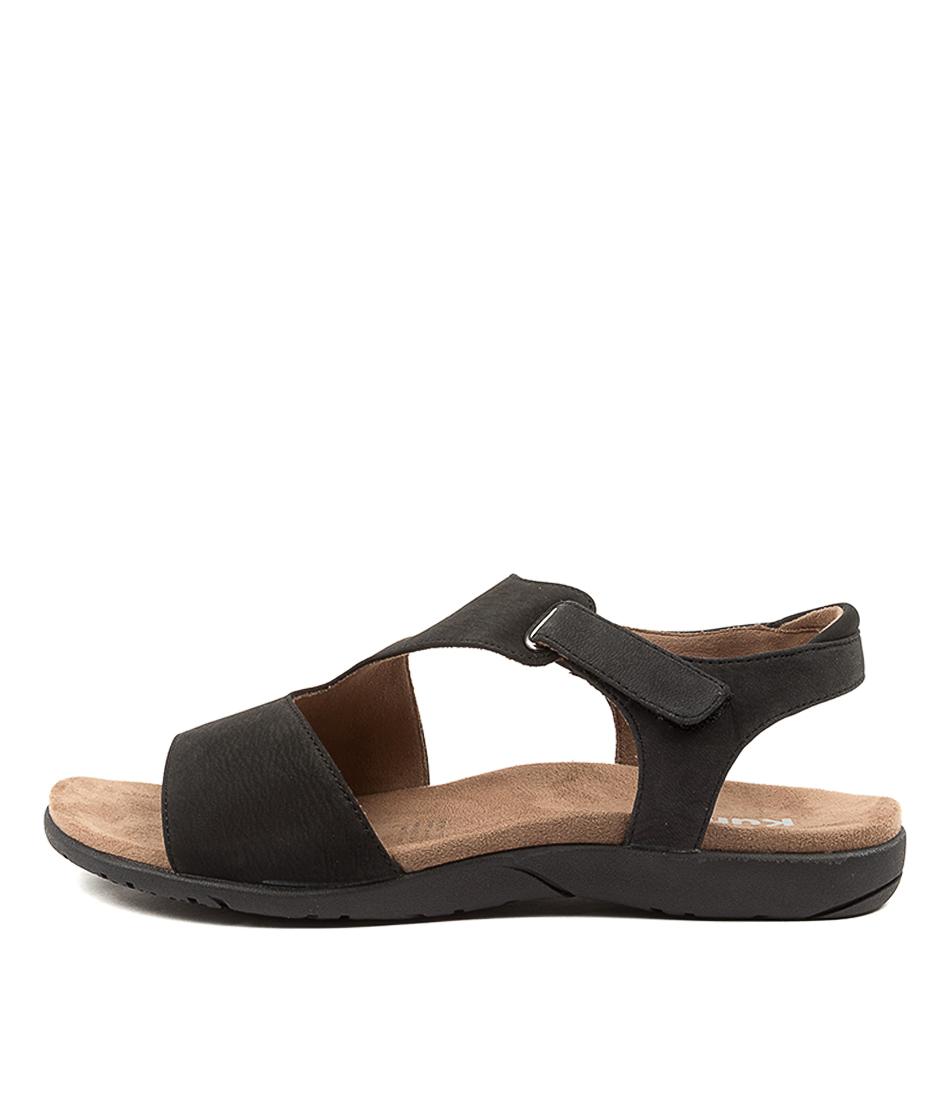 Buy Kumfs Kealba Km Black Sandals Flat Sandals online with free shipping