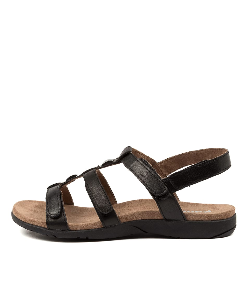 Buy Kumfs Kialla Km Black Sandals Flat Sandals online with free shipping