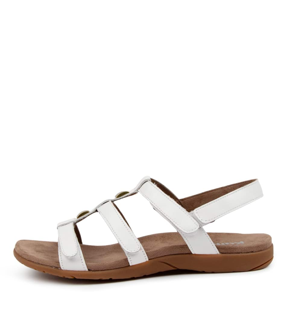 Buy Kumfs Kialla Km White Sandals Flat Sandals online with free shipping
