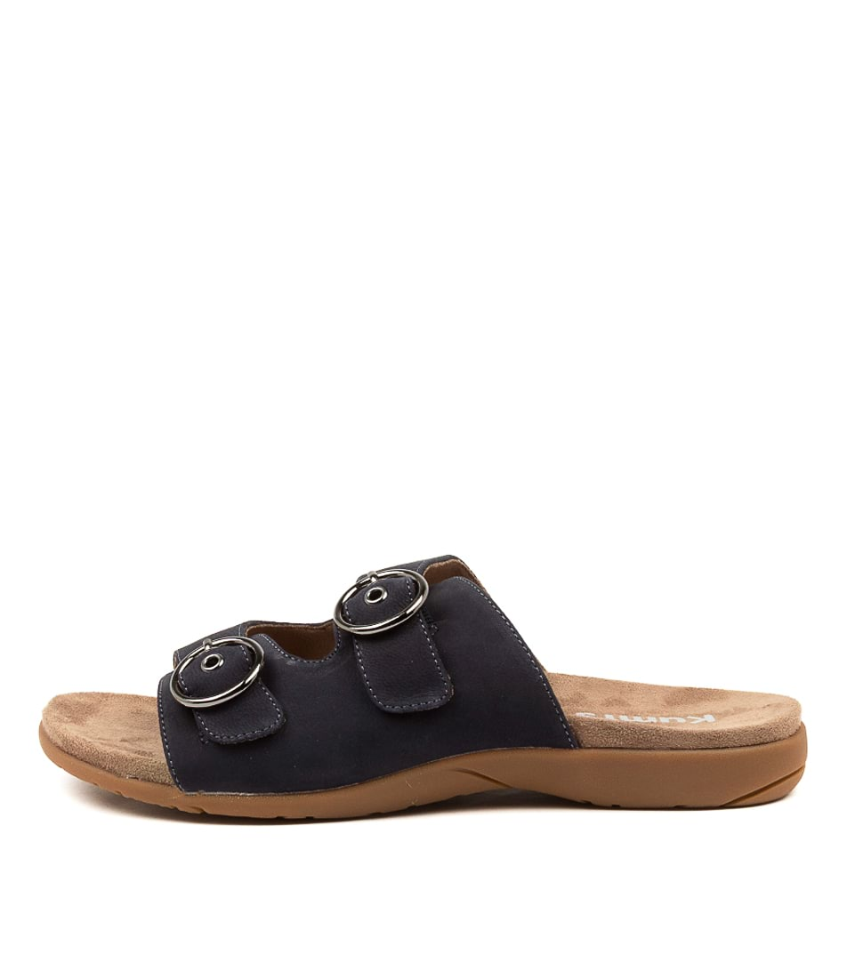 Buy Kumfs Koriella Km Navy Flat Sandals online with free shipping