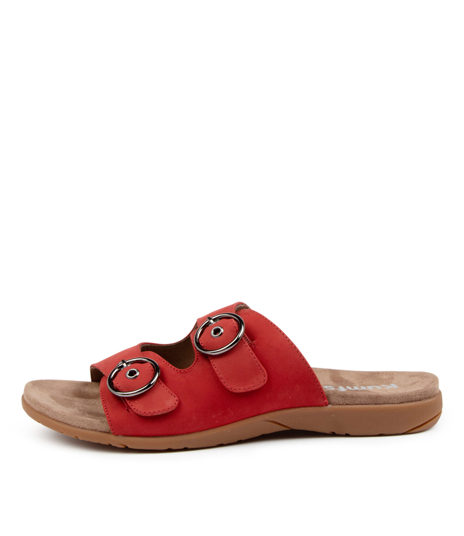 Buy Kumfs Koriella Km Red Flat Sandals online with free shipping