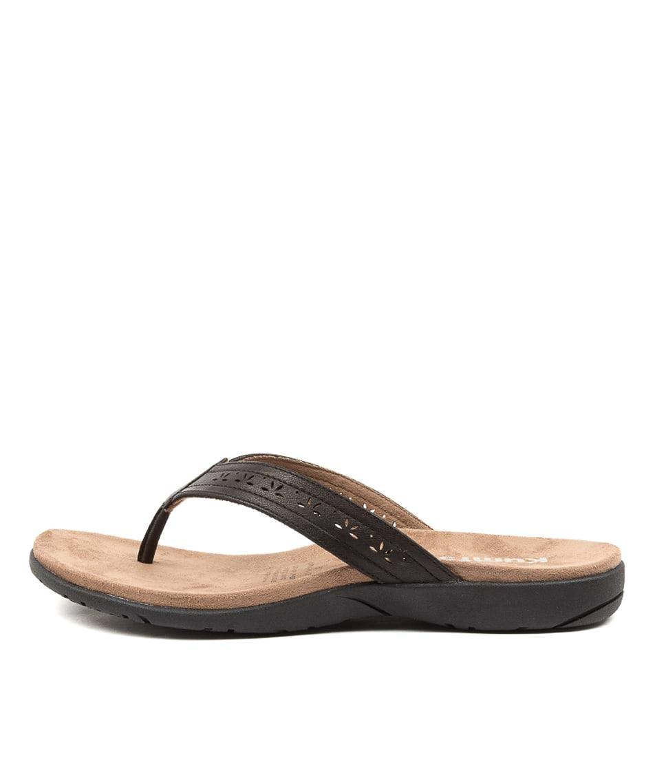Buy Kumfs Kurting Km Black Sandals Flat Sandals online with free shipping