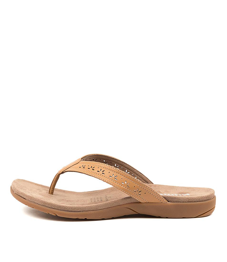 Buy Kumfs Kurting Km Tan Flat Sandals online with free shipping
