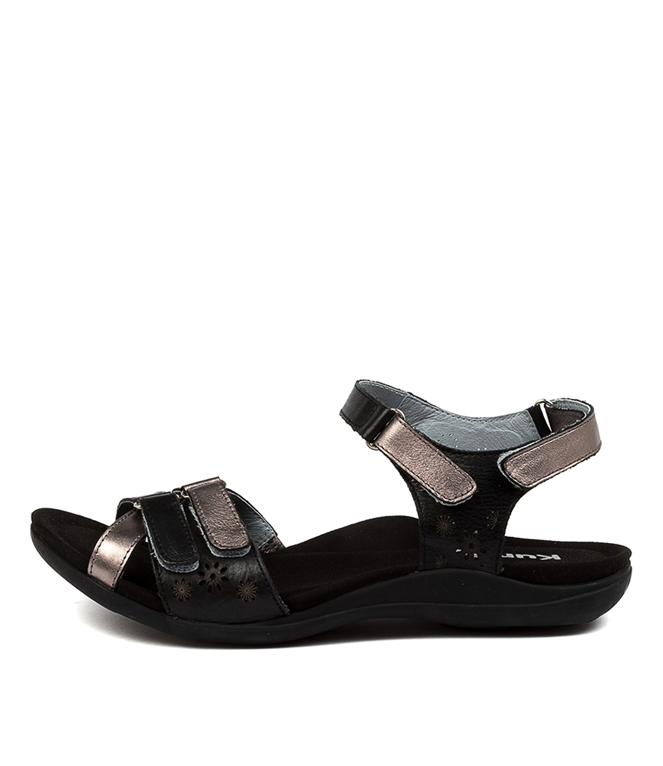 Buy Kumfs Marlo Km Black Sandals Flat Sandals online with free shipping