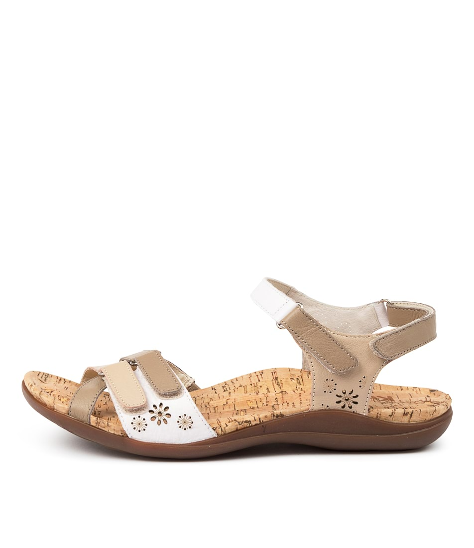 Buy Kumfs Marlo Km Taupe Sandals Flat Sandals online with free shipping