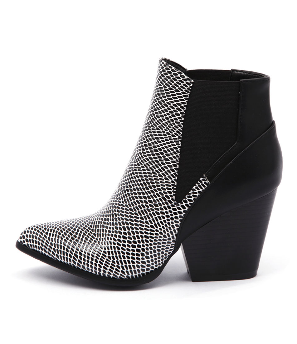 Ko Fashion Johna Dots Black Ankle Boots
