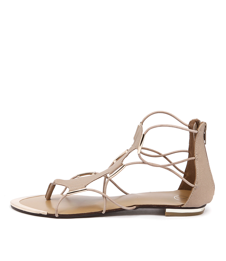 Ko Fashion Anja Kf Beige Gold Sandals