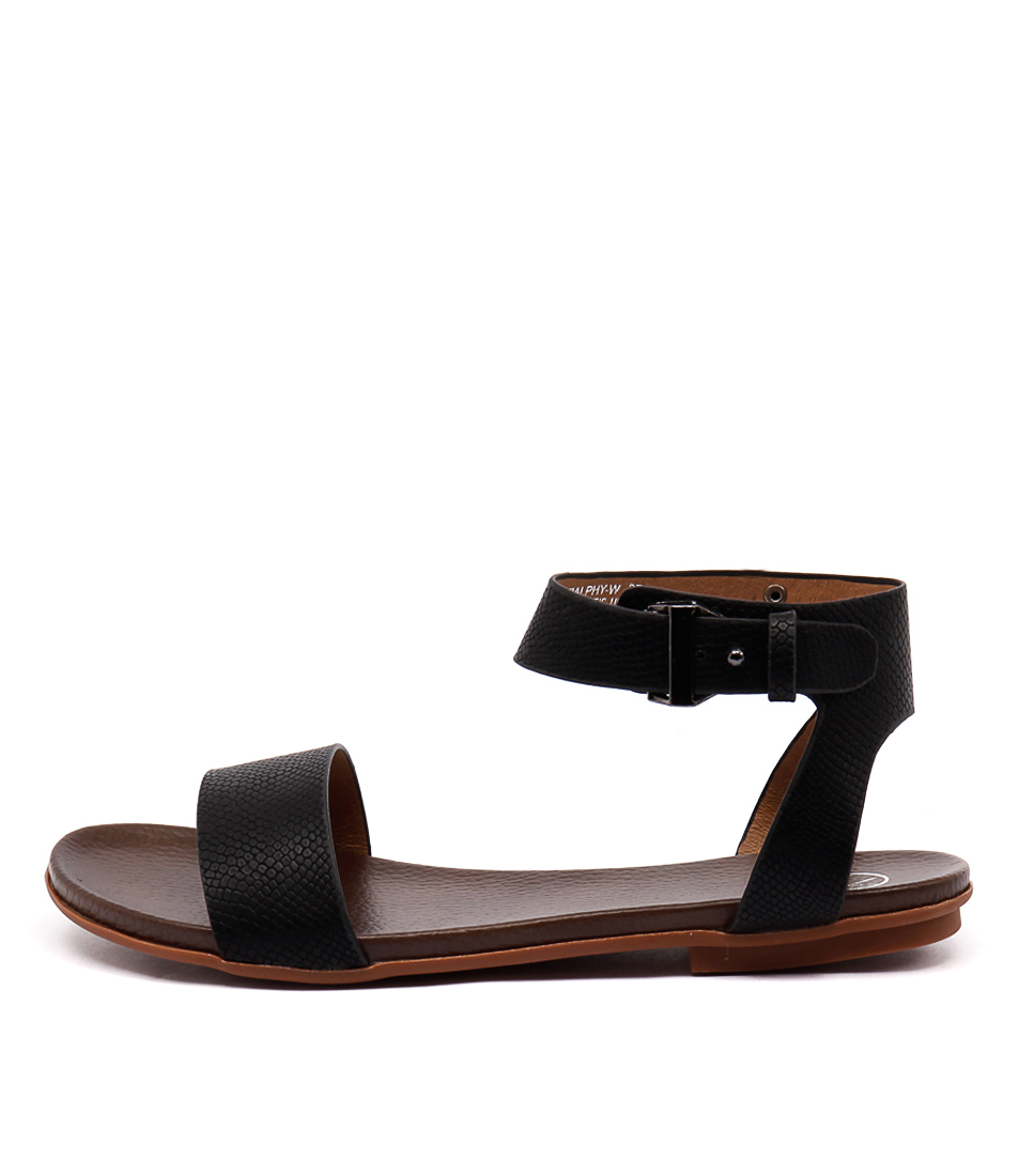 Ko Fashion Ralphy Black Sandals