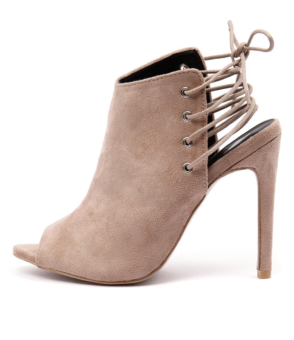 Ko Fashion Sj Beige Dress Heeled Shoes