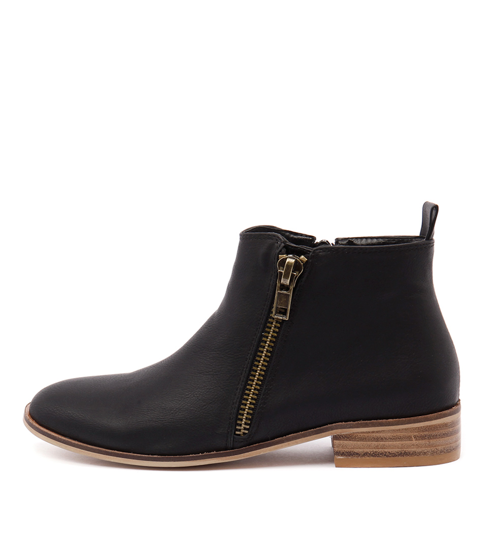 Ko Fashion Banik Black Casual Ankle Boots