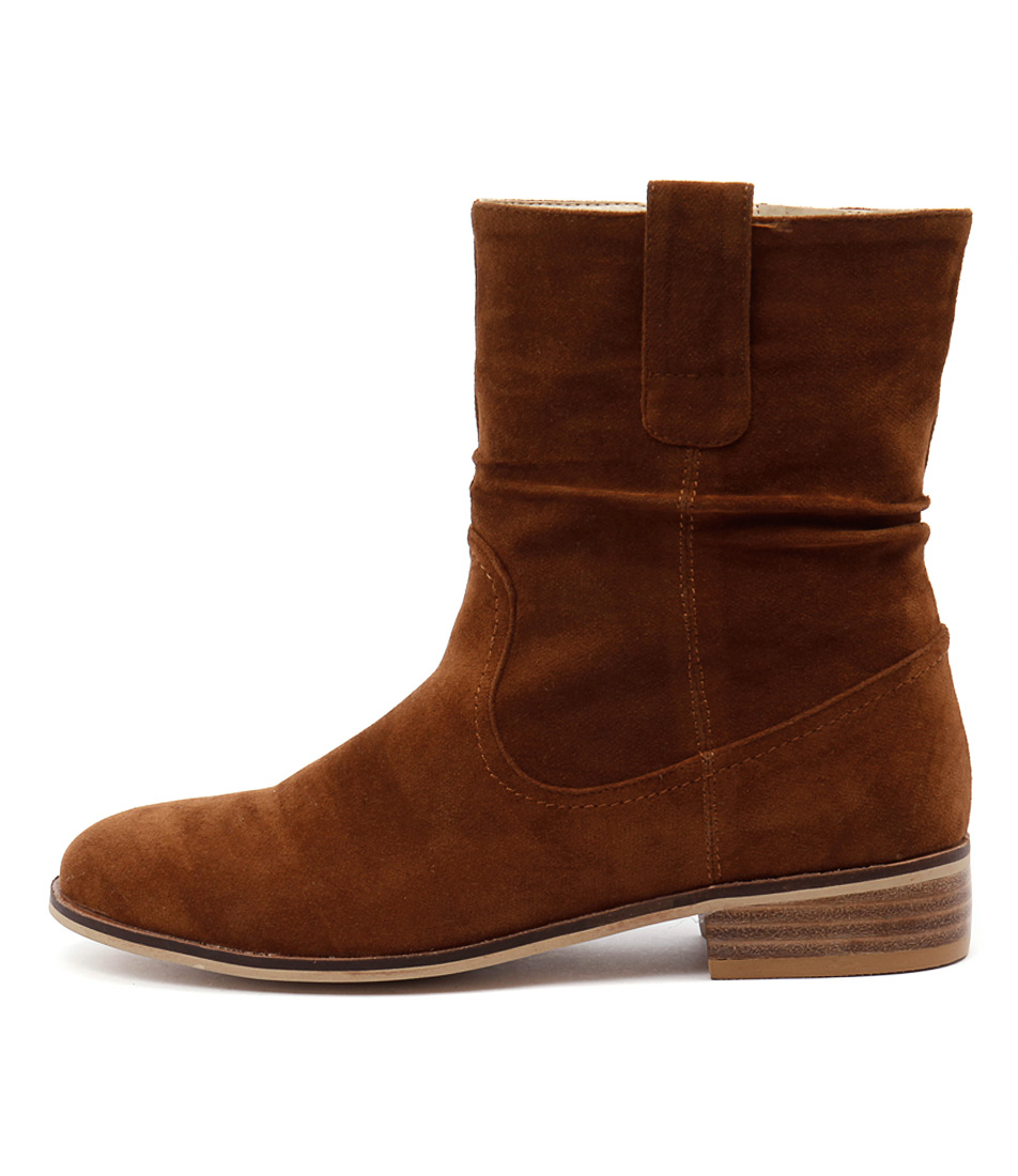 Ko Fashion Paltrow Tan Ankle Boots