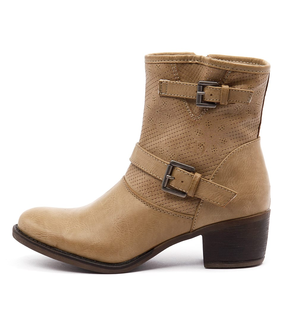 Buy Ko Fashion Beaker Taupe Ankle Boots online with free shipping