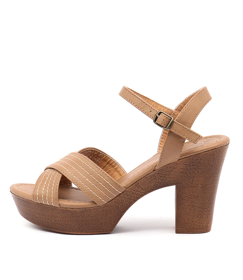 Ko Fashion Harper Kf Camel Tan Sandals