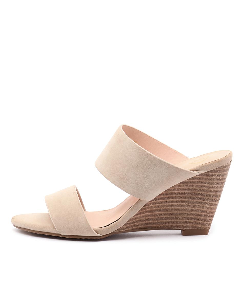 Ko Fashion Jemina Beige Casual Heeled Sandals