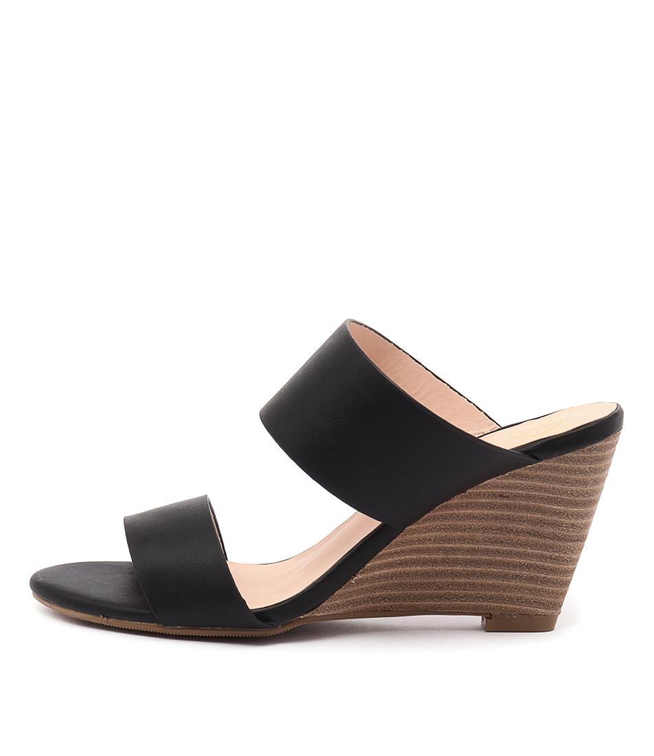 Ko Fashion Jemina Black Heeled Sandals