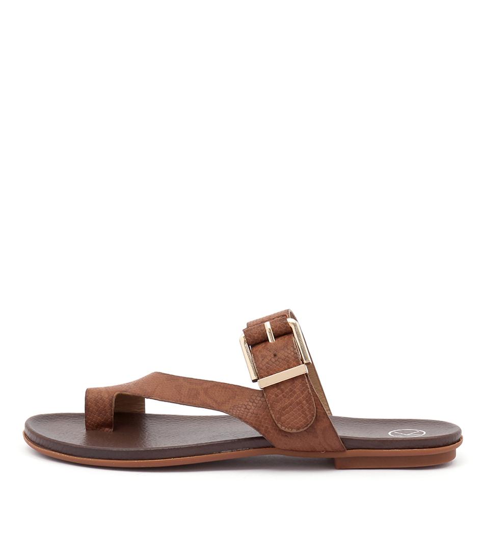 Ko Fashion Corfu Dark Brown Casual Flat Sandals