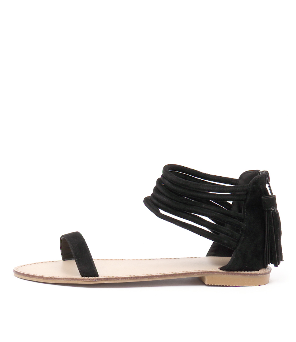 Ko Fashion Lennox Black Sandals