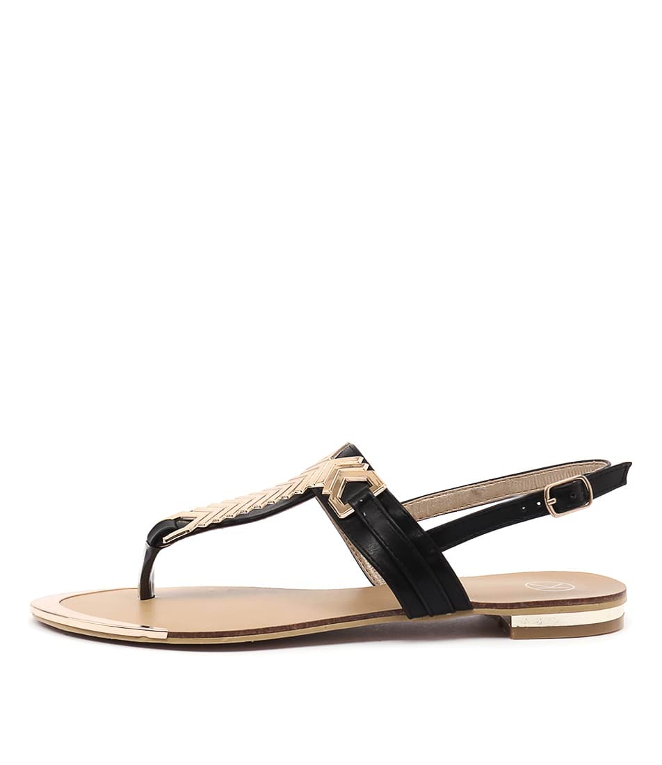 Ko Fashion Mya Black Sandals