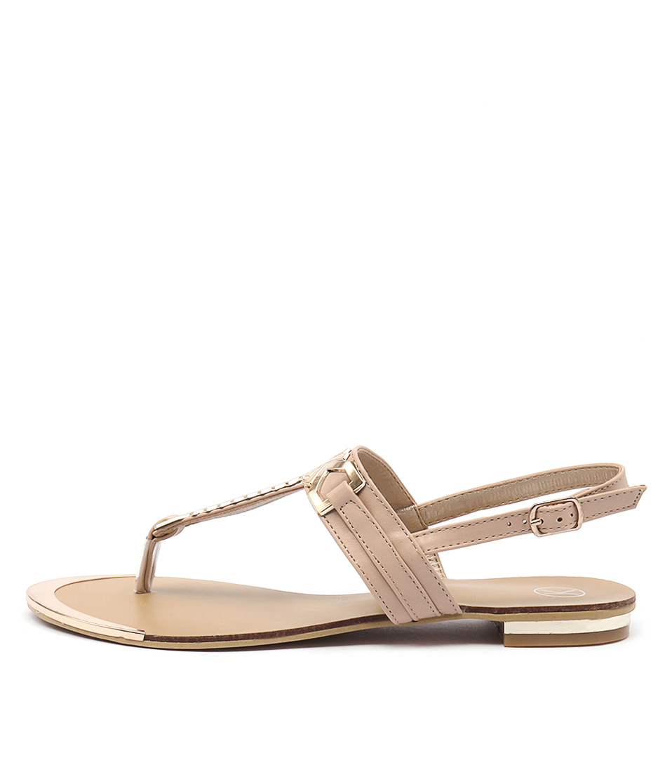 Ko Fashion Mya Beige Gold Sandals