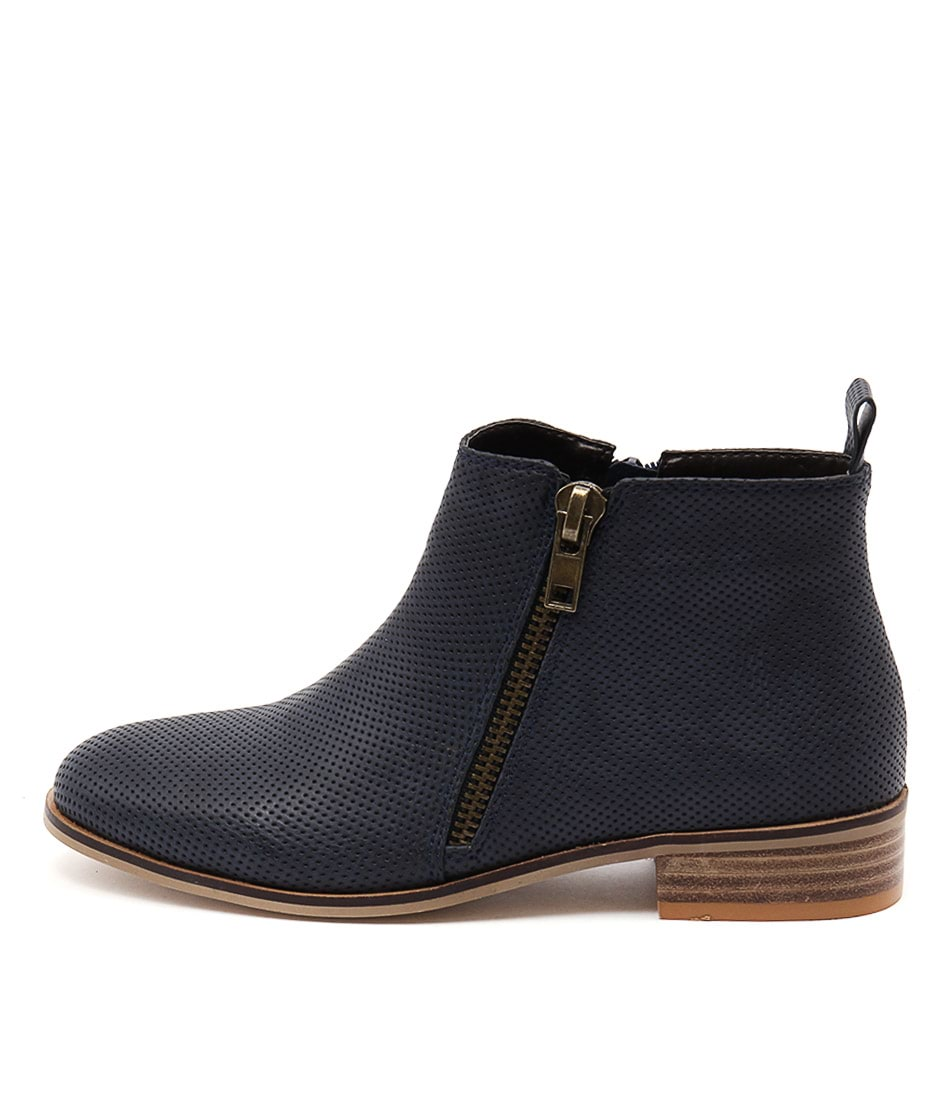 Buy Ko Fashion Banik Indigo Ankle Boots online with free shipping