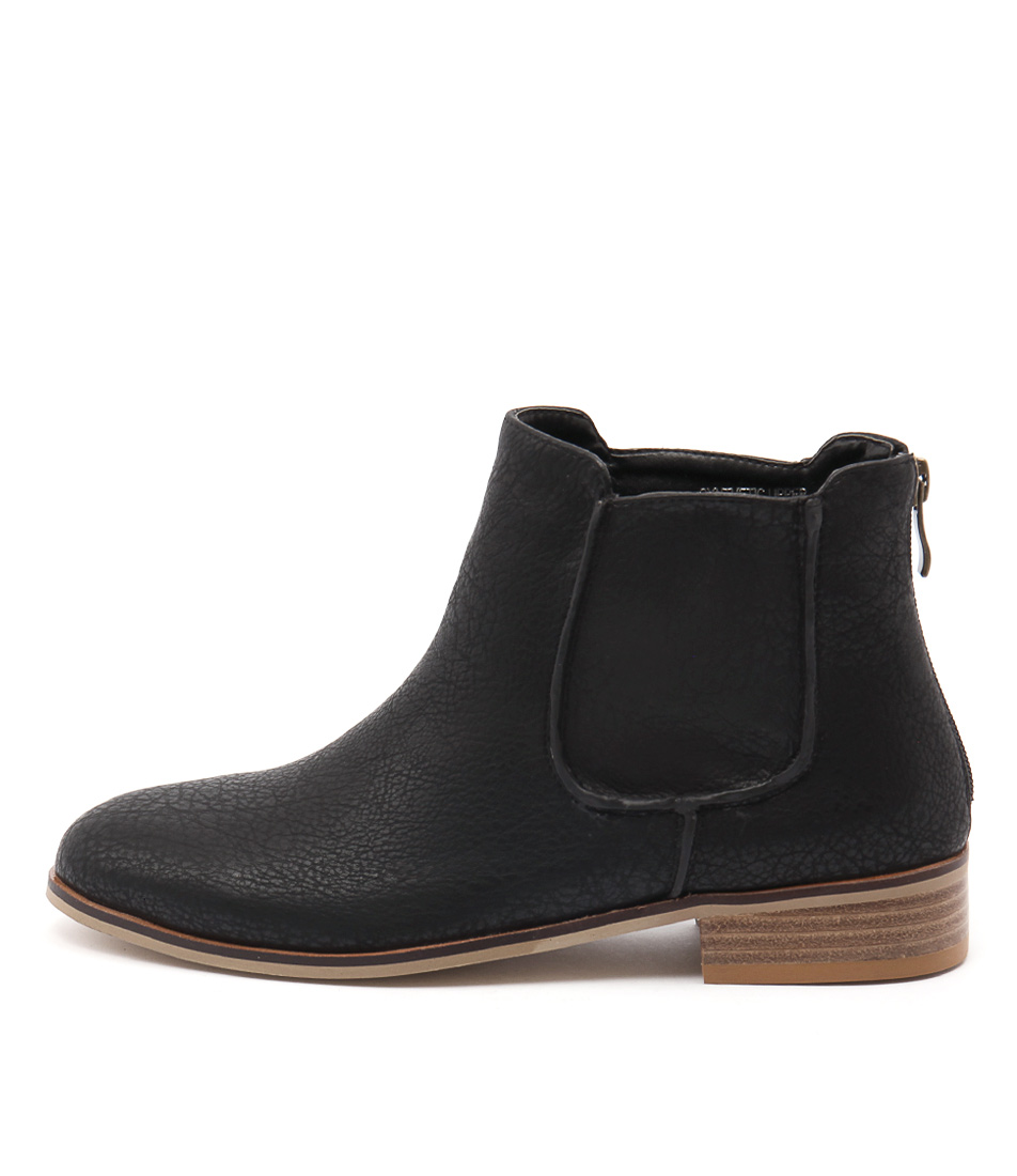 Ko Fashion Beduf Black Casual Ankle Boots