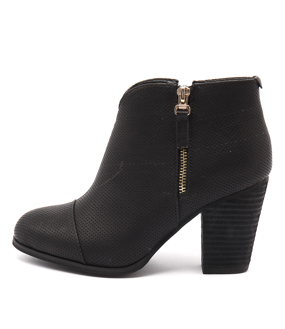 Ko Fashion Tabithy Black Ankle Boots